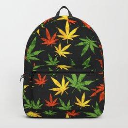 Cannabis. Grunge pattern Backpack