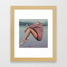 A Warm Sweater on the Harbor Framed Art Print