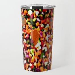 OWL - veg mosaic Travel Mug