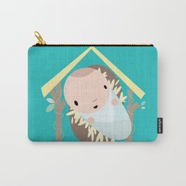 Baby Cartoon Jesus wishes you a Merry Christmas Carry-All Pouch