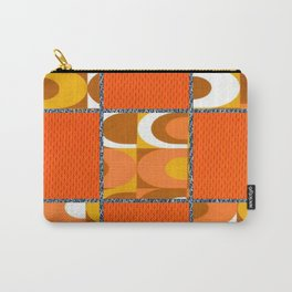 Orange Retro Vibes Carry-All Pouch