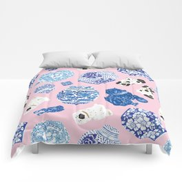 Chinoiserie Curiosity Cabinet Toss 5 Comforters