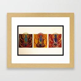 Buddha Collage Framed Art Print