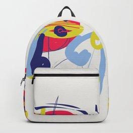 The Thinker  - Modern Abstract Brush Portrait Backpack