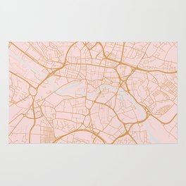 Leeds map, UK Rug