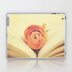 {Old Book and Ranunculus} Laptop & iPad Skin