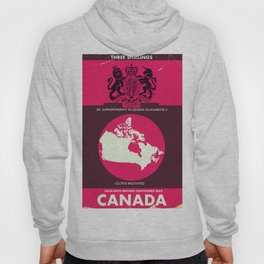 Canada Vintage map cover. Hoody