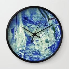 Ice Abstract Wall Clock