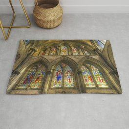 Rochester Cathedral Stained Glass Windows Art Rug