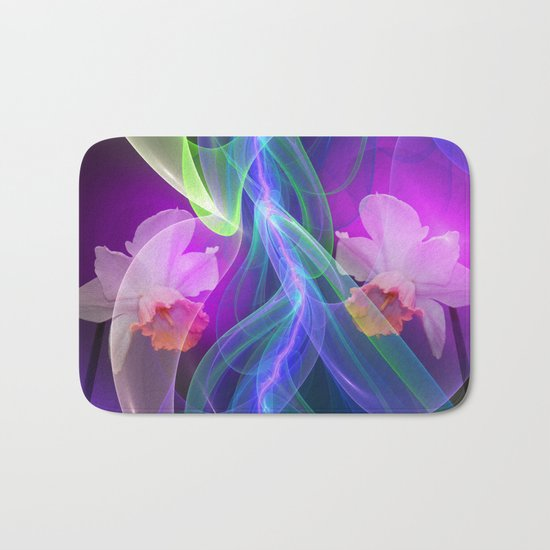 Dreamy Spring with Daffodils Bath Mat