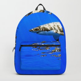 Magnificent Great White Shark God Rays Under Surface HD Backpack