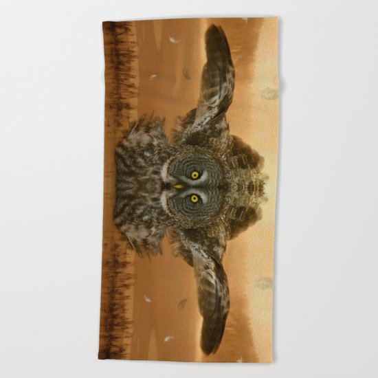 The greatest great grey of them all Beach Towel