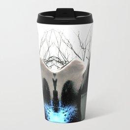 Reflecting Blue of Winter Travel Mug
