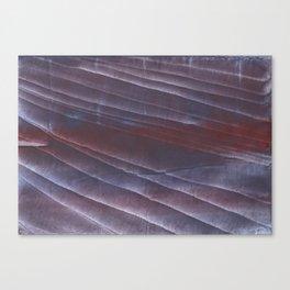 Dark purple striped wash drawing Canvas Print
