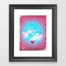 Valentine Affirmation Framed Art Print