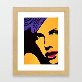 Charlize Theron- Art Print by Jossart © Framed Art Print