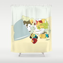 Great Pyrenees - Hide Me From that Puppy! Shower Curtain