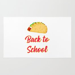 Back to School Tacos Quote Design Rug