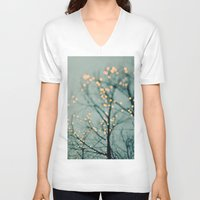 lights V-neck T-shirts featuring Lights  by Laura Ruth