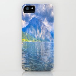 Summer Alps Lake iPhone Case