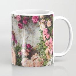 Romantic Floral Glitch Coffee Mug