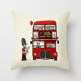 Lost in London Throw Pillow
