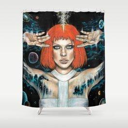 Leeloo Dallas Shower Curtain