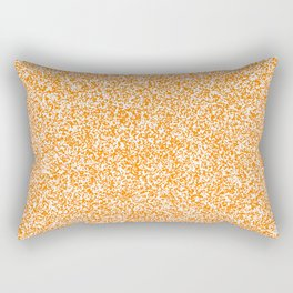 Spacey Melange - White and Orange Rectangular Pillow