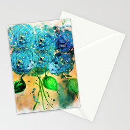Blue Heaven Hydrangea by Barbara Chichester Stationery Cards