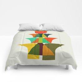 Whimsical bromeliad Comforters