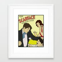scarface Framed Art Prints featuring Scarface 1932 Movie Poster by Finlay McNevin