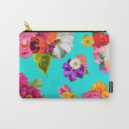 Bright Happy Flowers Carry-All Pouch