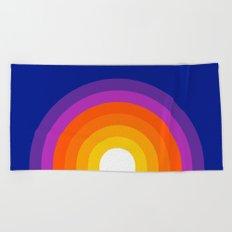 Classic Blue Rainbow Beach Towel