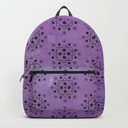 Purple Mechanical Flowers Backpack