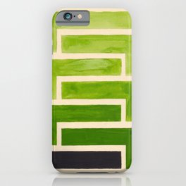 Sap Green Geometric Watercolor Painting iPhone Case