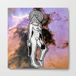 Space Lady Metal Print