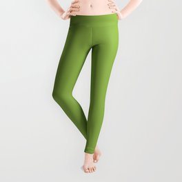Greenery | Pantone Color of the Year 2017 | Fashion Color Spring : Summer 2017 | Solid Color Leggings