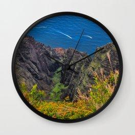 Na Pali Coast Awaawapuhi Valley Wall Clock