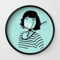 bubblegum Wall Clocks featuring Bubblegum by FalcaoLucas