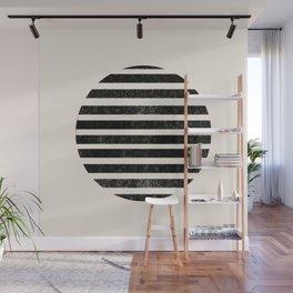 Abstract black shapes Wall Mural