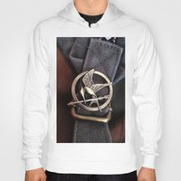 mockingjay Hoodies featuring Mockingjay by AndyGD
