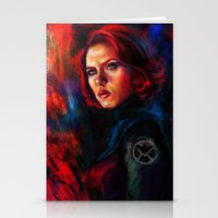 black widow Stationery Cards featuring Black Widow by Five-Oclock