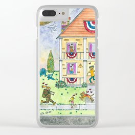 Welcome Home Soldier II Clear iPhone Case