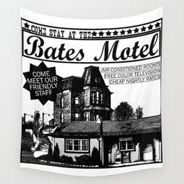 Bates Motel Advertisement - Black Type Wall Tapestry