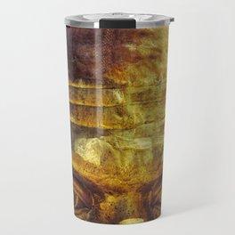 Gold Face Travel Mug