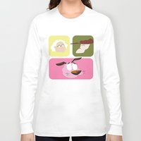 courage Long Sleeve T-shirts featuring Courage by Raquel Segal