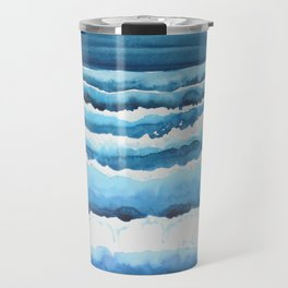 Watercolour waves crashing on the shore Travel Mug