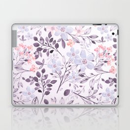 Hand painted modern pink lavender watercolor floral Laptop & iPad Skin