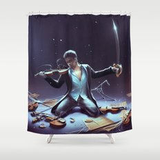 Outburst of violince Shower Curtain