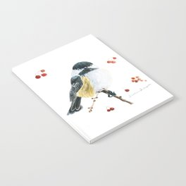 Christmas Chickadee by Teresa Thompson Notebook
